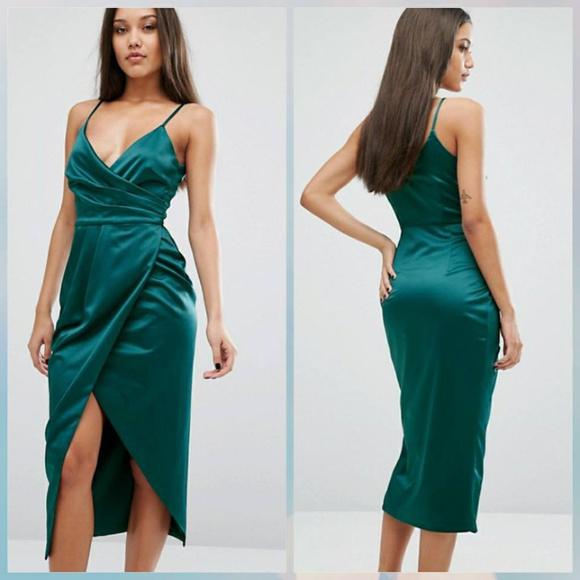 8e2ba2399ae4 Asos Emerald Green Midi Dress